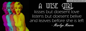 marilyn monroe quotes Profile Facebook Covers