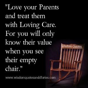 Love your Parents   Wisdom Quotes & Stories