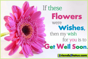 ... these flowers were wishes, then my wish for you is to get well soon