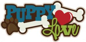 Puppy Love SVG scrapbook title