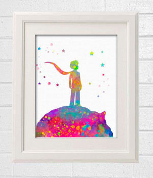 The Little Prince Quote Watercolor French Quote Painting Illustration ...