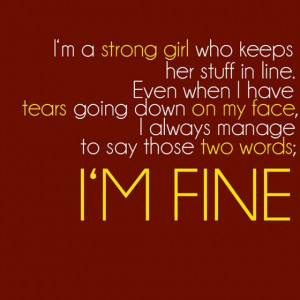 Am A strong Girl Who Keeps