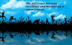 This year I commit to excellence!