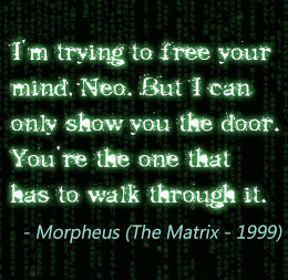 Quote from The Matrix movie