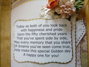 Poems for 50th Wedding Anniversary Gift Ideas
