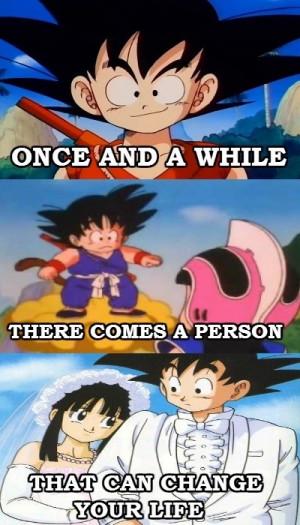 Goku and Chichi! ♥