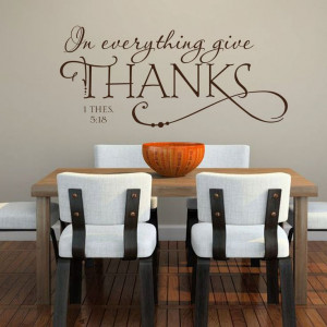vinyl wall decals | ... Kitchen Bible Quote - Removable Vinyl Wall ...