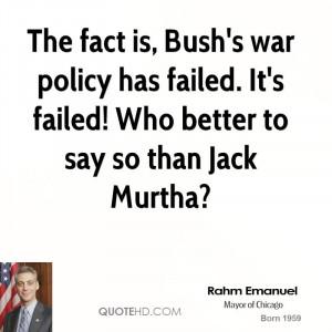 Rahm Emanuel War Quotes