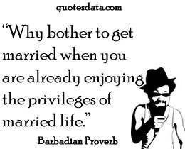 Picture Popular Barbadian proverbs >>More....