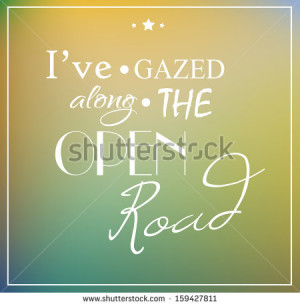 Retro poster typographic with quote
