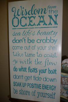... Sign, Wall Decor,Ocean, Quotes, Sea, Inspiring, Unique on Etsy, $35.00