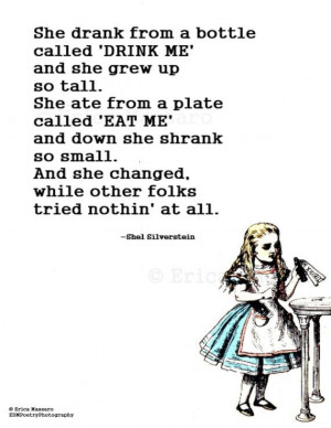 she changed alice in wonderland inspirational quotes erica massaro ...