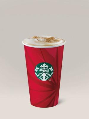 Starbucks Eggnog Latte. (Via OlyDrop) (Photo: Starbucks)