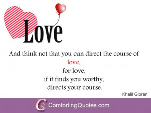 Khalil Gibran's Quote on Love - Image Quote