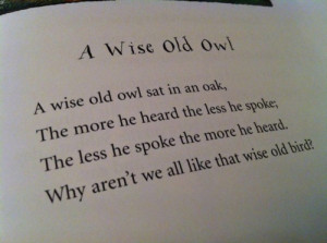 book, nursery rhyme, owl, quote, rhymes, text