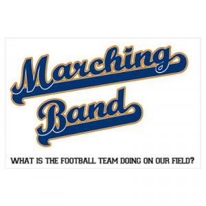 CafePress > Wall Art > Posters > Marching Band Poster