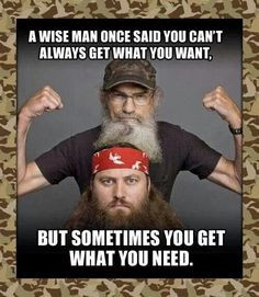 Wise Man Once Said You Can't Always Get What You Want!