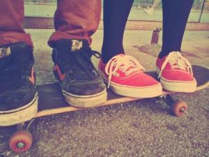 couple, cute, hipster, skate, vans