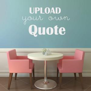custom vinyl wall decals quotes