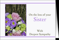 Sympathy Loss of your Sister - Purple bouquet card - Product #1080570