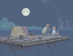 Huck Finn in Adventures of Huckleberry Finn