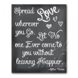 Spread Love Mother Teresa Quote Printable Digital by OldMarket, $2.00