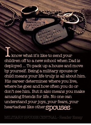 Written by a military spouse in appreciation of the military spouse ...