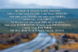 The road to success is not straight quote