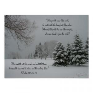 winter landscape scripture