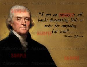 Thomas Jefferson Banking Poster