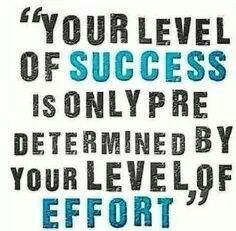 Success =Effort