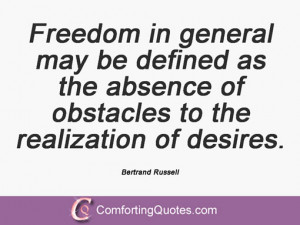... the sacrifices required for cooperation with oneself. Bertrand Russell