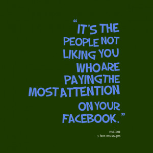 Quotes Picture: it's the people not liking you who are paying the most ...
