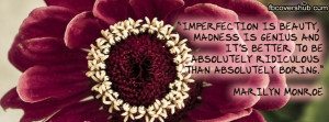Imperfection is Beauty Marilyn Monroe Quote Fb Cover