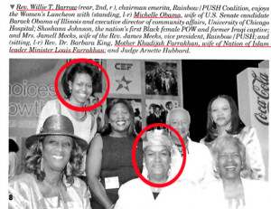 ... Farrakhan's wife together. Associating with virulent racist anti
