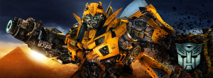 Bumblebee Transformers Background Facebook cover