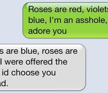 cute, poem, red, roses, roses are red, text, violet