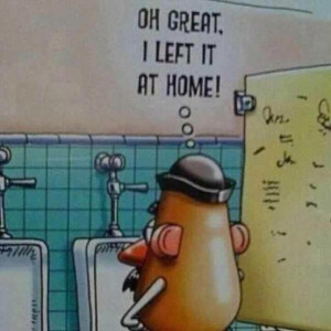 Funny Mr Potato Head Cartoon Picture - Oh great, I left it at home!