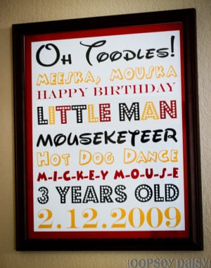 ... birthday subway art centered around the birthday theme did you