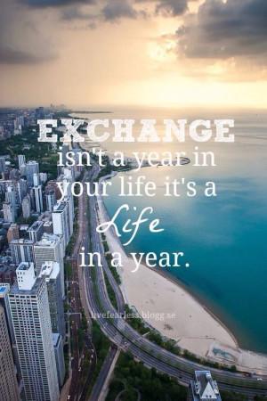 Exchange year ️