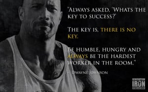 Generation Iron The Rock Quote