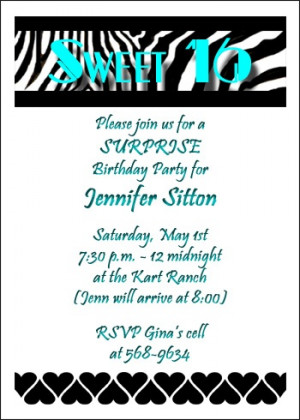 Sweet 16 Birthday Invitations areBecoming Very Popular!