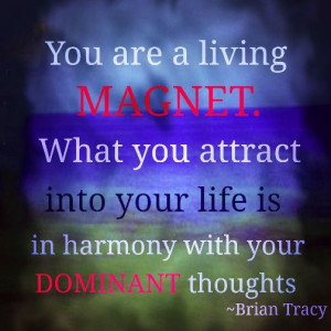 You are a living magnet. What you attract into your life is in harmony ...