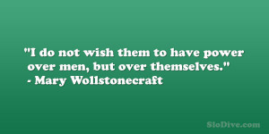 Mary Wollstonecraft Quote