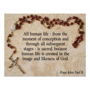 Pro Life Quotes Pope John Paul Ii Pope john paul pro-life