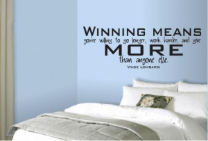 ... and give more Vince Lombardi Quote Vinyl Wall Art Decal For Boys Room