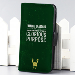 Home wallet case Loki Quotes thor marvel wallet case for iphone 4,4s,5 ...