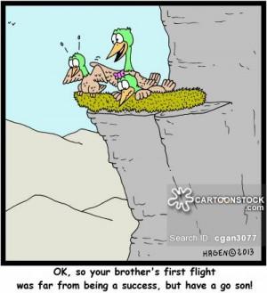 the nest cartoons, leaving the nest cartoon, funny, leaving the nest ...