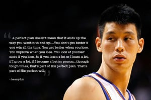 NBA Jeremy Lin's quote from Linsanity. About why failure and tough ...