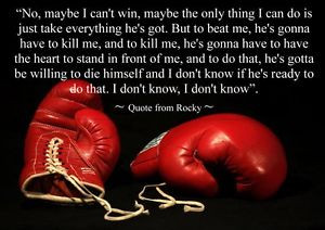 Details about ROCKY BOXING INSPIRATIONAL / MOTIVATIONAL QUOTE POSTER ...